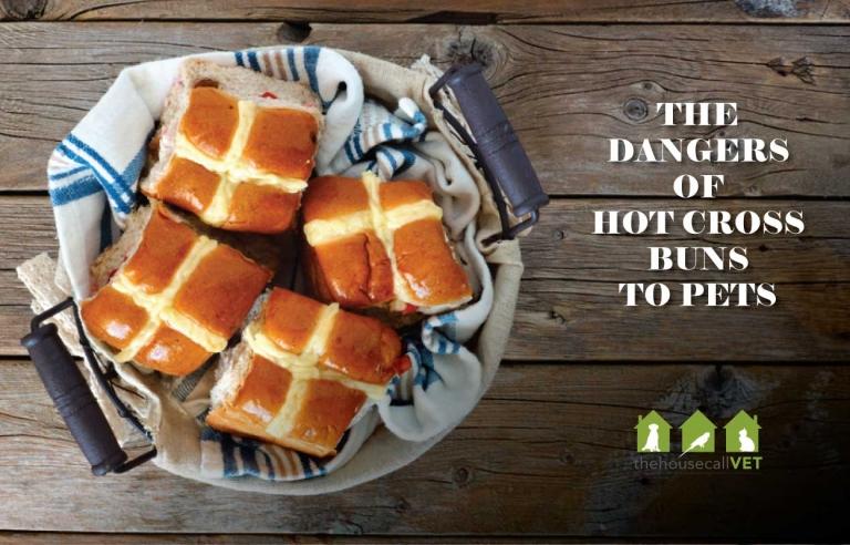 hot cross buns on table