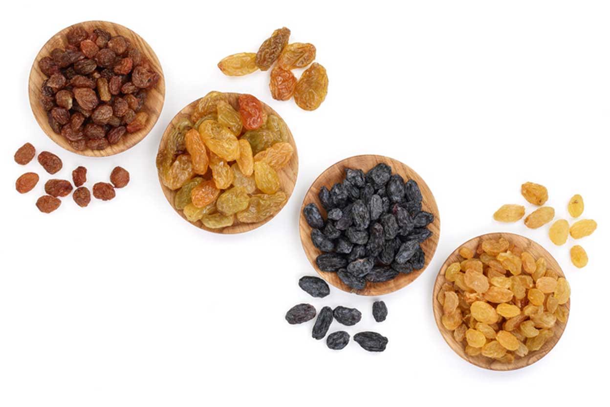 different types of raisins